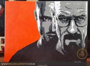 Breaking Bad Stencil canvas by LDN ARTS for