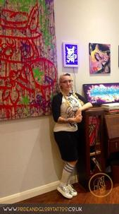 Chessie with the latest exhibition from Street to skin at Pride & Glory