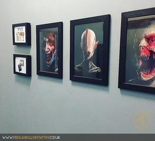 Creepshow Exhibition at Pride & Glory Tattoo Studio